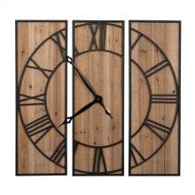 3 Panel Wall Clock