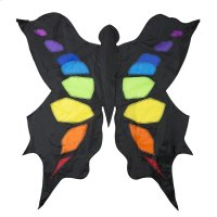 Black & Rainbow 3D Butterfly Kite Product Image