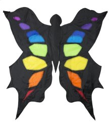 Black & Rainbow 3D Butterfly Kite