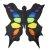 Additional Black & Rainbow 3D Butterfly Kite