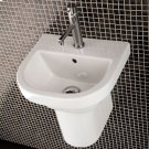 "Wall-mounted porcelain shroud for washbasins #2952, 2962, 4271, 4272, 4281, or 4281, 7""W x 11""D x 9 7/8""H Product Image"