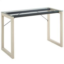 Medley Glass Top Writing Desk in Natural Clear