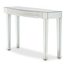 Mirrored Console Table W/honeycomb Packing