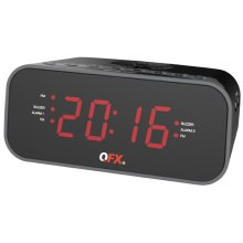 Alarm Clock Radio With Dual Usb Charging