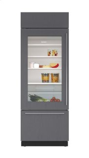 "30"" Built-In Over-and-Under Glass Door Refrigerator/Freezer - Panel Ready Product Image"