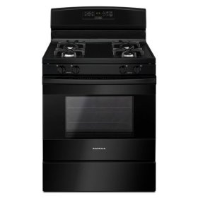 Amana® 30-inch Gas Range with Bake Assist Temps - Black