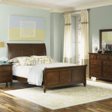 Queen Sleigh Bed, Dresser & Mirror, Chest, N/S