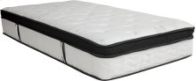 Capri Comfortable Sleep 12 Inch Memory Foam and Pocket Spring Mattress, Twin in a Box