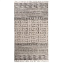 5'x8' Size Flatweave Faded Stripe Rug