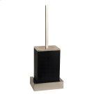 Black wall mounted brush holder Product Image