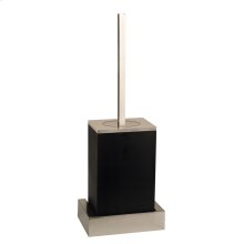 Black wall mounted brush holder