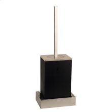Black wall mounted brush holder