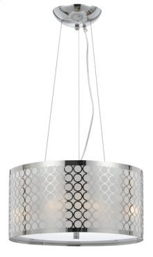 60W X 3 MADRID METAL FRAMED DRUM PENDANT FIXTURE