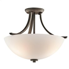 Granby Collection Granby 3 Bulb Semi Flush Ceiling Light OZ