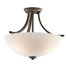 Granby Collection Granby 3 Bulb Semi Flush Ceiling Light OZ