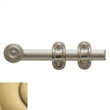 Satin Brass and Brown Ornamental Heavy Duty Surface Bolt