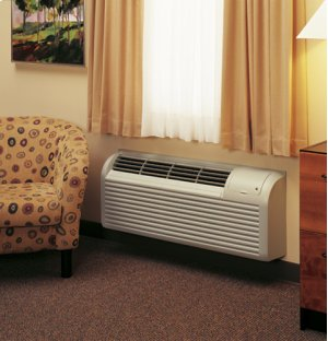GE Zoneline® Deluxe Series Cooling and Electric Heat Unit, 265 Volt