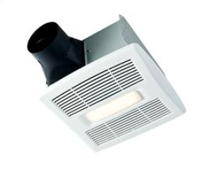 InVent Series 80 CFM 1.5 Sones LED Lighted Finish Pack with White Grille, ENERGY STAR® certified product