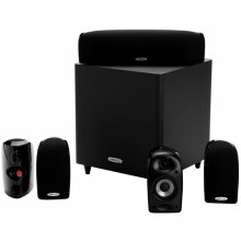6-Piece Compact Surround Sound System with Subwoofer and TL1 Satellite and Center Channel Speakers in Black