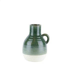 """Ceramic 10"""" Jug, Green"""