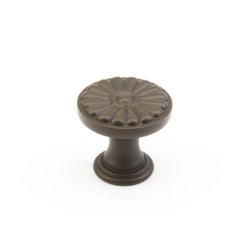 "Solid Brass, Montcalm, Round Knob, 1-3/8"" diameter, Oil Rubbed Bronze finish"
