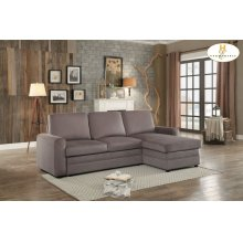 Reversible Sectional with Pull-out Bed and Hidden Storage