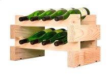 2 x 4 Bottle Modular Wine Rack (Natural)