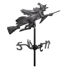 Flying Witch Garden Weathervane - Black