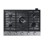 "Samsung30"" Gas Cooktop with 22K BTU Dual Power Burner in Stainless Steel"