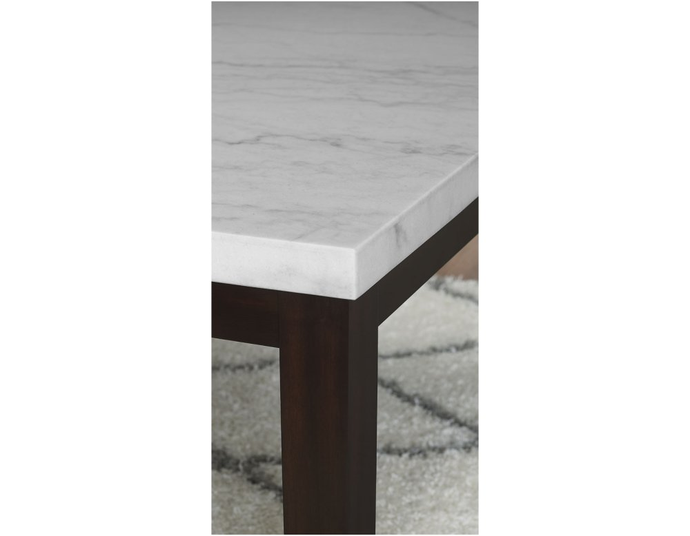 White marble table top Modern Francis Square White Marble Table Top 54 Ultimate Mattress Fc5454mt In By Steve Silver Co In Klamath Falls Or Francis