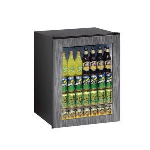 "U-Line Ada Series 24"" Ada Glass Door Refrigerator With Integrated Frame Finish And Field Reversible Door Swing (115 Volts / 60 Hz)"