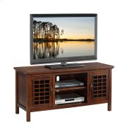 "Chocolate & Black Glass 50"" TV Console #81170 Product Image"