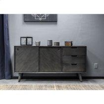 Leven Mid-Century Tundra Grey Acacia Buffet Cabinet Product Image