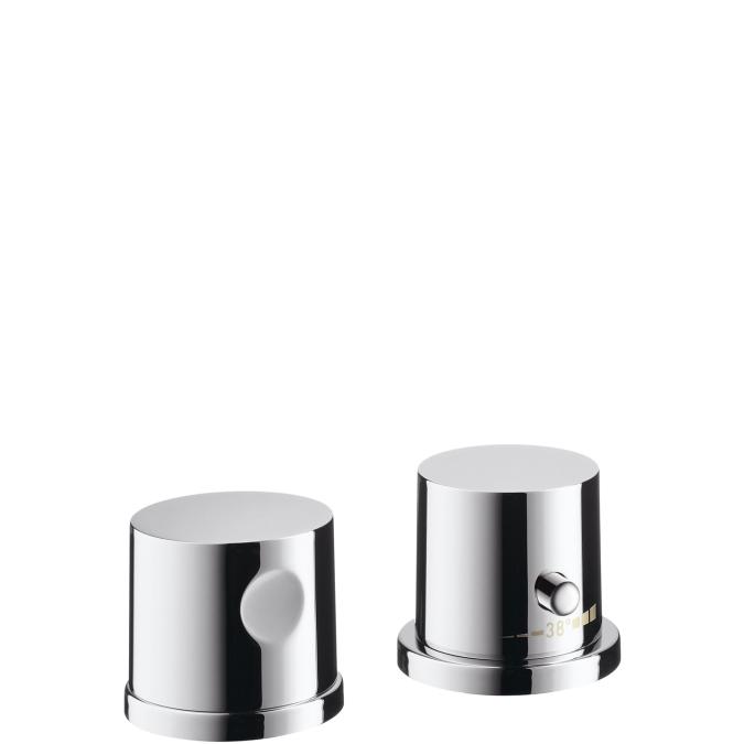 Chrome Trim, 2-Hole Thermostatic Roman Tub Set