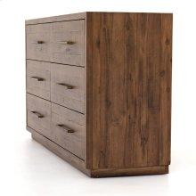 Heritage Brown Finish Suki 6 Drawer Dresser
