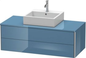 Vanity Unit For Console Wall-mounted, Stone Blue High Gloss Lacquer