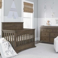 Heron Grey Emerson 4 in 1 Convertible Crib