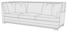 Cantor Right Arm Return Sofa in Molasses (780)