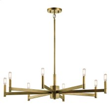Erzo Collection Erzo 8 Light Chandelier in Natural Brass