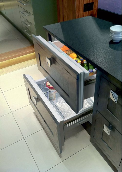 """36"""" Refrigerator and Freezer Drawers with Ice Maker - Panel Ready"""