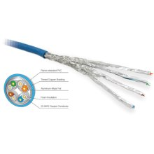 High Performance CAT6a/STP Cabling - 1,000 ft. Spool (Non Plenum Blue)
