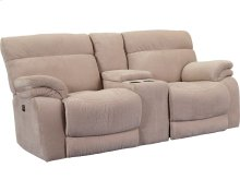 Windjammer Double Reclining Rocking Loveseat With Console