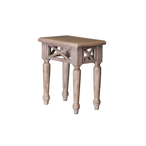 Accent Table, Available in Aged White or Vintage Walnut Finish.