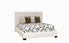 Casual Queen bed, wide base with legs