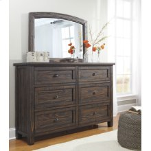 Timber and Tanning Bedroom Mirror