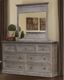 CF-3000 Bedroom - Dresser With Shutter Mirror - Sunset Trading