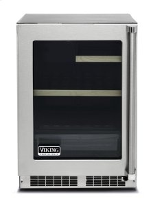"""24"""" Glass Door Undercounter Refrigerator, Left Hinge/Right Handle"""