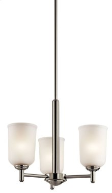 Shailene 3 Light Mini Chandelier Brushed Nickel