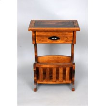 """#354 Lodge Side Table 20.5""""wx13""""dx29.5""""h"""