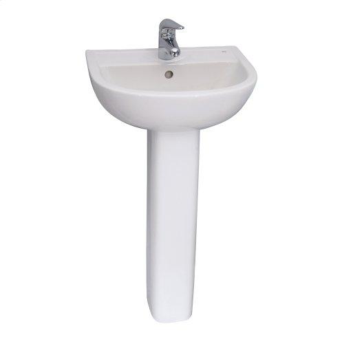 Compact 450 Pedestal Lavatory - White